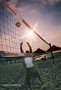 Volley ball, beach competition